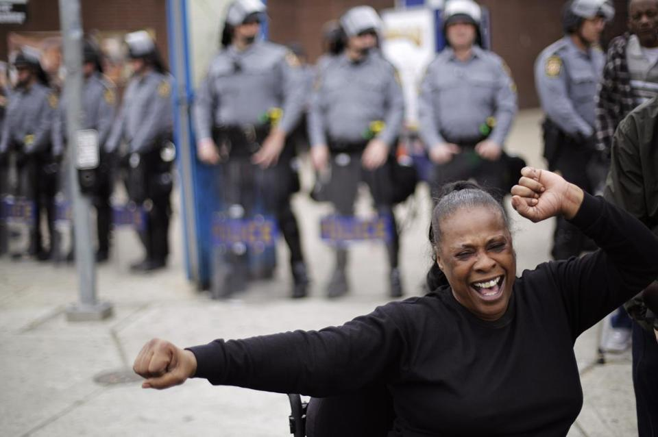 Lisa Mills celebrated Friday after learning about the charges filed in the Freddie Gray case.